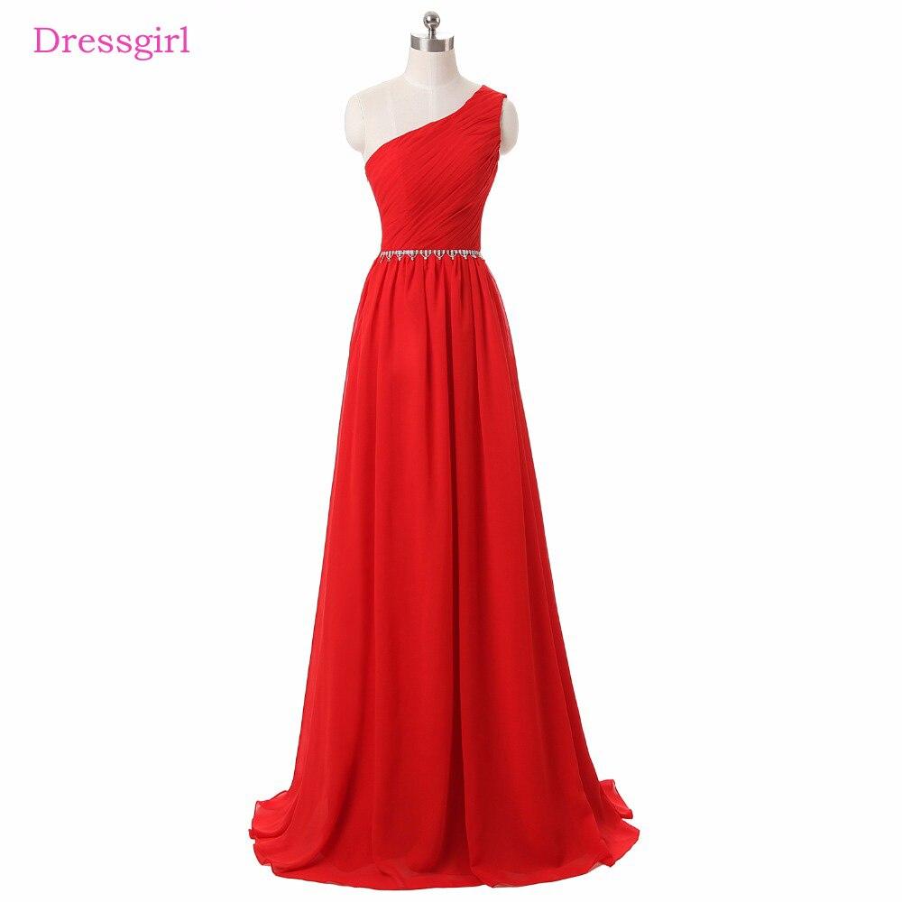 font b Red b font Evening font b Dresses b font 2018 A line One