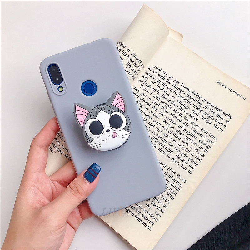 3D Cartoon Silicone Phone Standing Case for Xiaomi And Redmi Phones 29