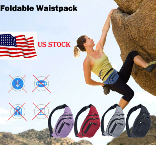 NEW Men Women Pockets Canvas Outdoor Climbing Waterproof Casual Large Capacity
