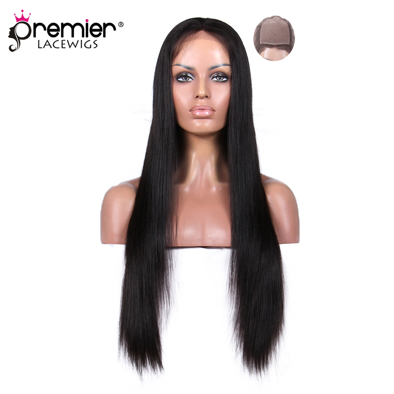 PREMIER DENTELLE PERRUQUES Top En Soie Full Lace Wigs Indian Remy Cheveux Soyeux Droite [SFLW-SS]