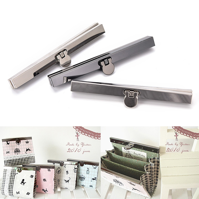 Wallet Metal Clasp Clips Semicircle Frame Handle Coin Purse Bag Craft Bags Parts Accessories