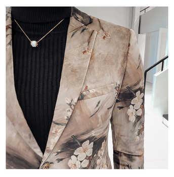 Luxury Mens Blazer British Style Wedding Party Blazer Masculino Europe Size Single Breasted Slim Fit Blazer And Jackets Men
