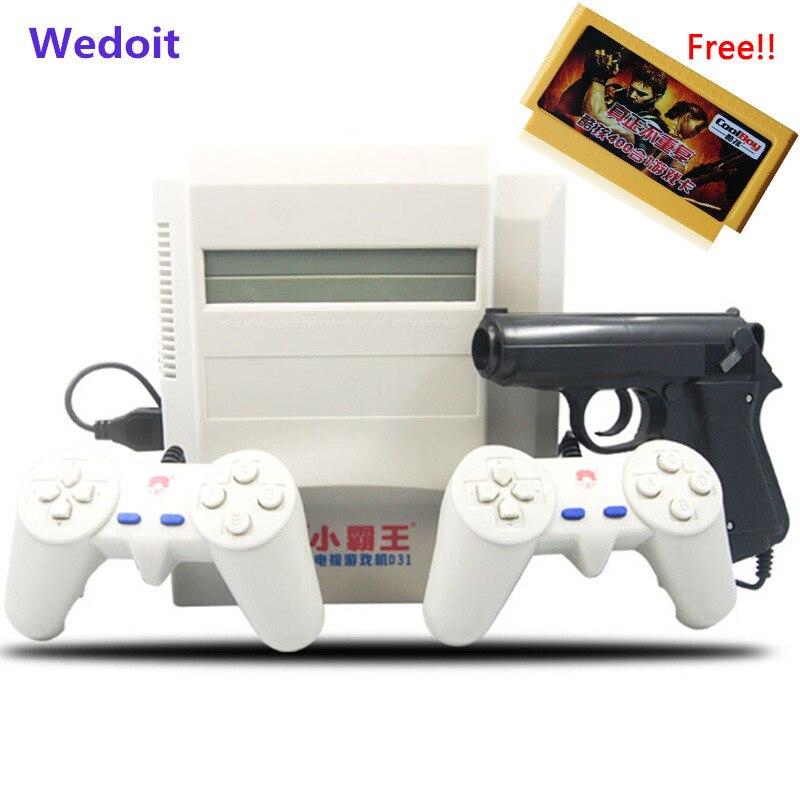 Subor D31 ТВ игровой консоли хулигана 8 бит двойная ручка ностальгические классические съемки игры + 400 В 1 карточная игра Семья видеоприставки