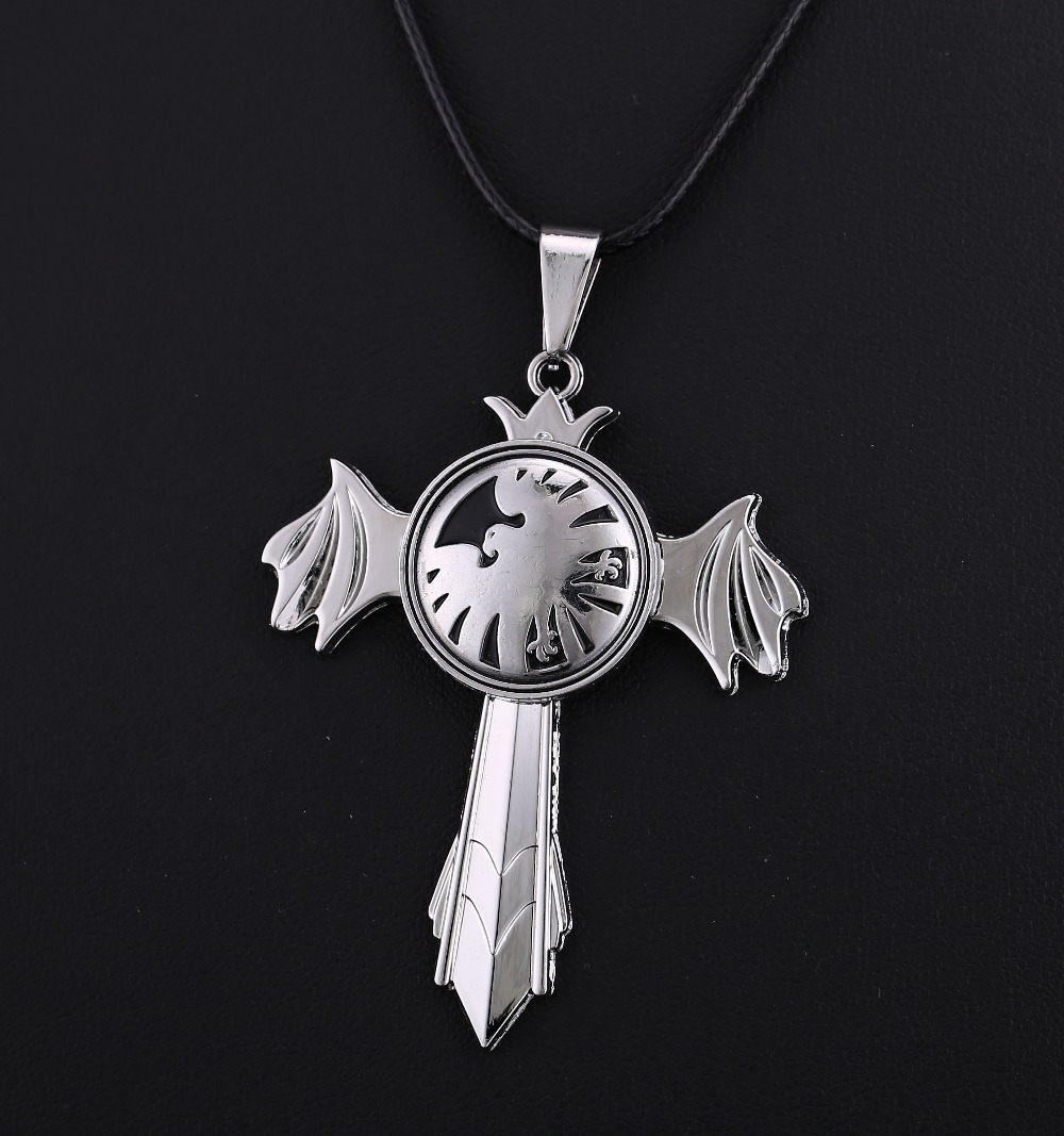 MS JEWELS Movie The Avengers S.H.I.E.L.D. Pendant Necklace Jewelry Sword Wings Rotatable Quality