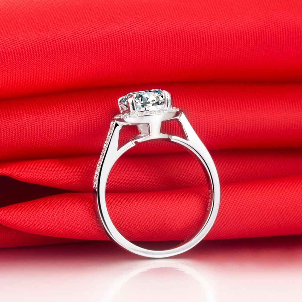 fab4af7be Prix de gros usine 1CT SONA Mancreat diamant bague Halo bague de  fiançailles femmes bijoux en argent Sterling 18 K plaqué or blanc ~ Free  Shipping June 2019