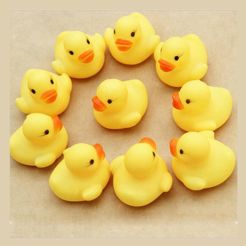 Бассейны звук утята игрушки играть воды Для ванной дети Игрушечные лошадки 10 шт./упак. ...