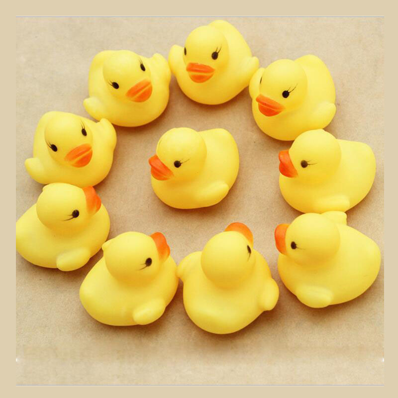 Swimming Pool Sound Ducklings Water Play Toy Bath Kids Toys 10 pieces / bag