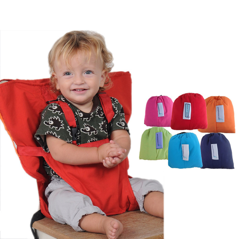 цена на Baby Chair Bag Portable Infant Seat Product Dining Lunch Chair/Seat Safety Belt Feeding High Chair Harness Baby chair seat