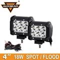 """Auxbeam CREE Chip de 18 W 4 """"Led Spot Light Work/Flood SUV Truck ATV RZR UTV Carro Barco Reboque Picape OffRoad Condução luzes de Nevoeiro 4 polegadas"""