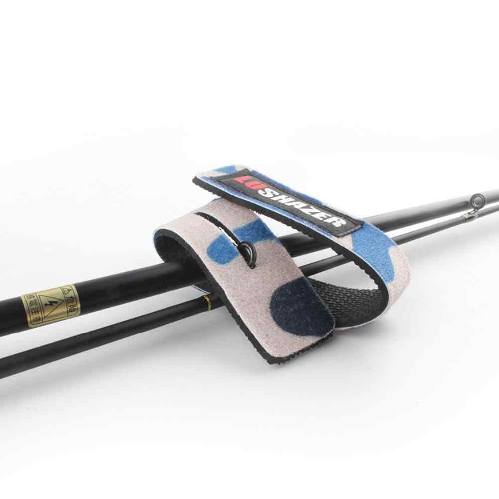 2/6 個釣りベルトストラップ袖釣りポールネクタイ包装バンドパック弾性鯉釣竿ベルト