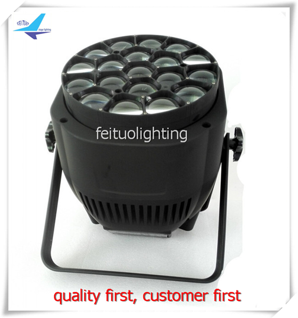 4 xlot flycase powerful 19*15 w bee-eye rgbw led zoom par 4 in 1 disco led par can wash lamp dmx Sound Activated Stage Lighting