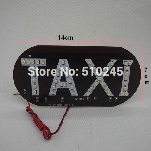 100pcsX 45SMD LED white/blue/green/red/yellow Car Auto Cab Sign top Light Vehicles Windscreen White LED Lamp DC 12V Taxi Light