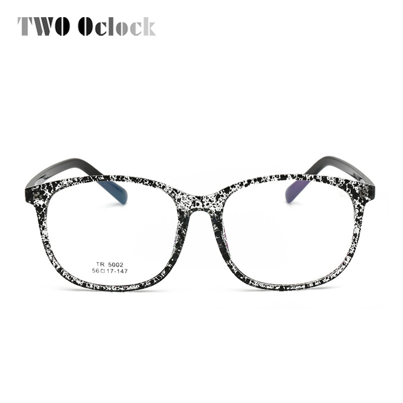 TWO Oclock TR90 Bendable Eyeglass Frames Computer Gaming Glasses Clear Anti Blue Light Eyewear Myopia Prescription Glasses X5002