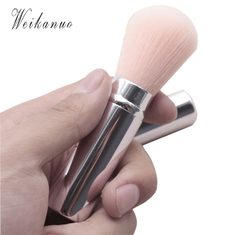 1 Pcs Professional Women Makeup Brushes High quality Retractable Foundation Powder Brush Pink Cosmetic Blush Brush