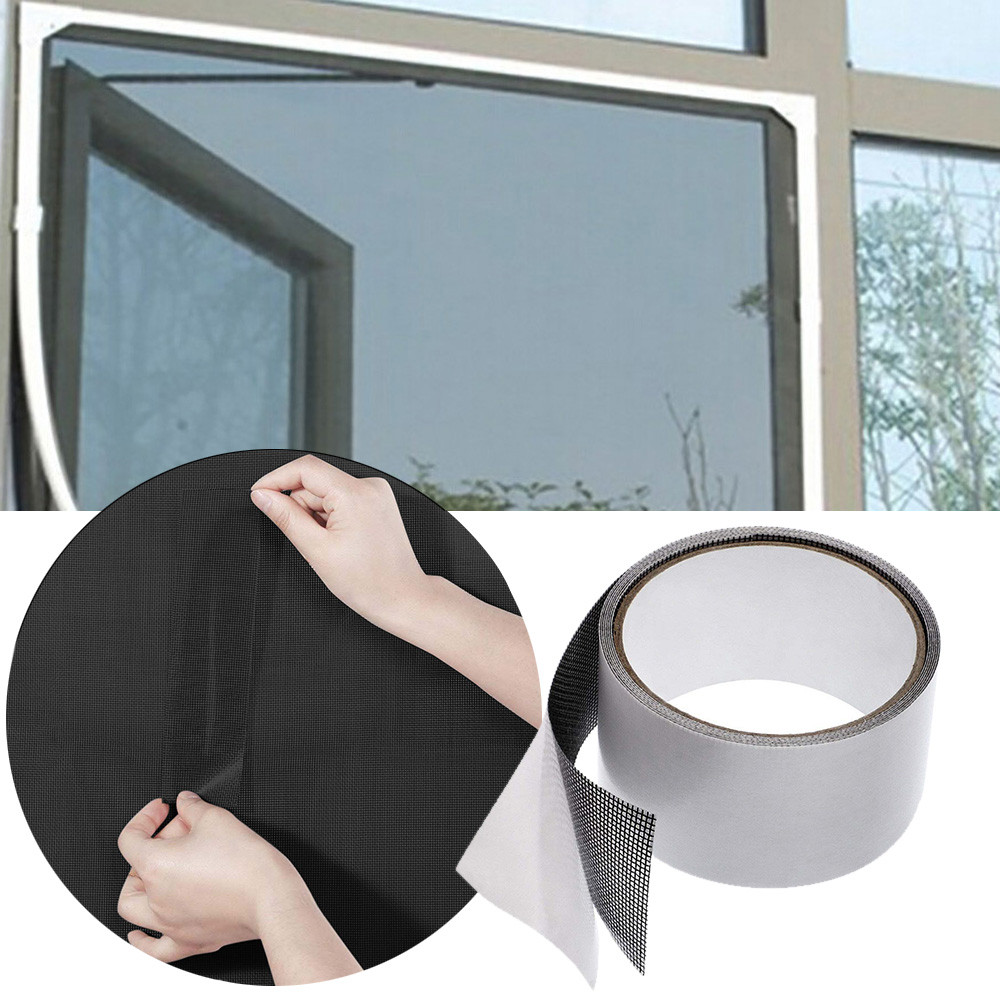 Screen Door Repair Kit | Fly Screen Door Insect Repellent Repair Tape Waterproof Mosquito Screens Cover Black 5 Cm X 200 Cm Drop Shipping S14 30