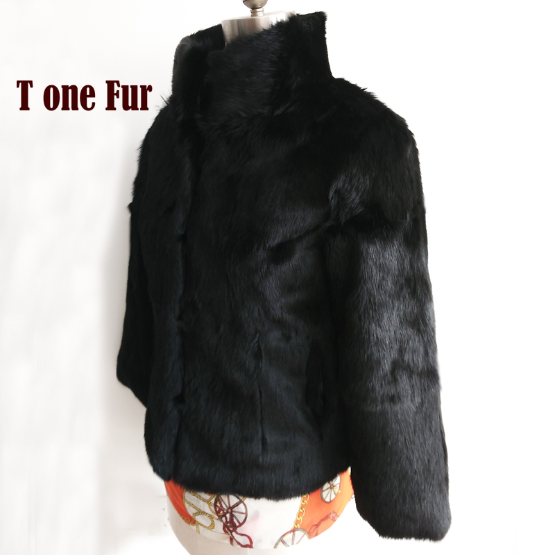 2019 New Arrival Factory Wholesale Retail Genuine Natural Rabbit Fur Waistcoat Real Fur Jacket Fashion Coat