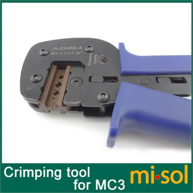 Crimping tool for MC3 Connector, for photovoltaic, for solar panel DIY, crimper   crimping tool solar crimping tool kits with 2 5 6 0mm2 crimping tool mc3 mc4 crimping die solar tool set with mc4 mc3 crimper stripper cutter