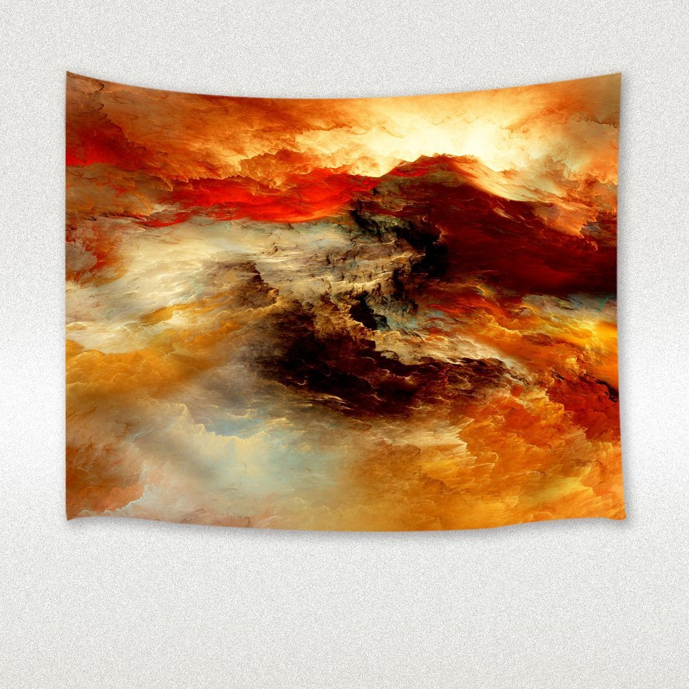 Fantasy sky tapestry dreamlike sky land oil painting wall art hanging for bedroom living room dorm wall blankets multicolored