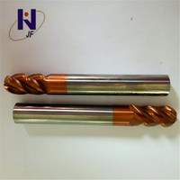 jf 10pcs/lot  R0.75*3*D3*50*4F Solid Carbide 4 Flutes Ball Nose End Mill  Metric  50HRC  TiXCo Coated For Hard Steel|Milling Cutter| |  -