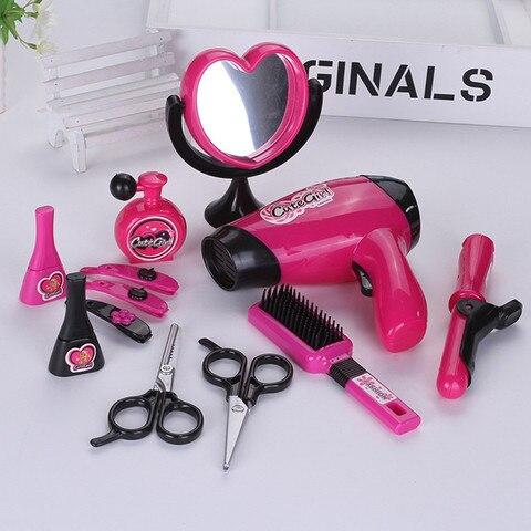 simulacao penteadeira maquiagem kits de cabeleireiro educativo engracado puzzle simulacao brinquedos fingir jogar gadget para