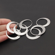 10pcs Silver Tone Stainless Steel Round/Oval Circle Pendant Charms Blank Dangle For Earring Necklace Jewelry Making