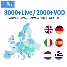1 Year IPTV Germany Italy Spain UK Greece Europe IUDTV Code M3U IPTV Subscription Germany Italy Spain Greek Nordic IUDTV IP TV