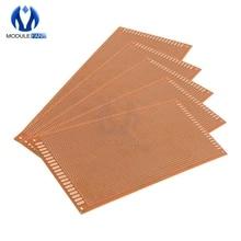 10x22 см 10*22 см DIY бакелитовая пластина бумага Прототип PCB Универсальный Эксперимент Матрица доска односторонний лист Медь 10x22 10x22