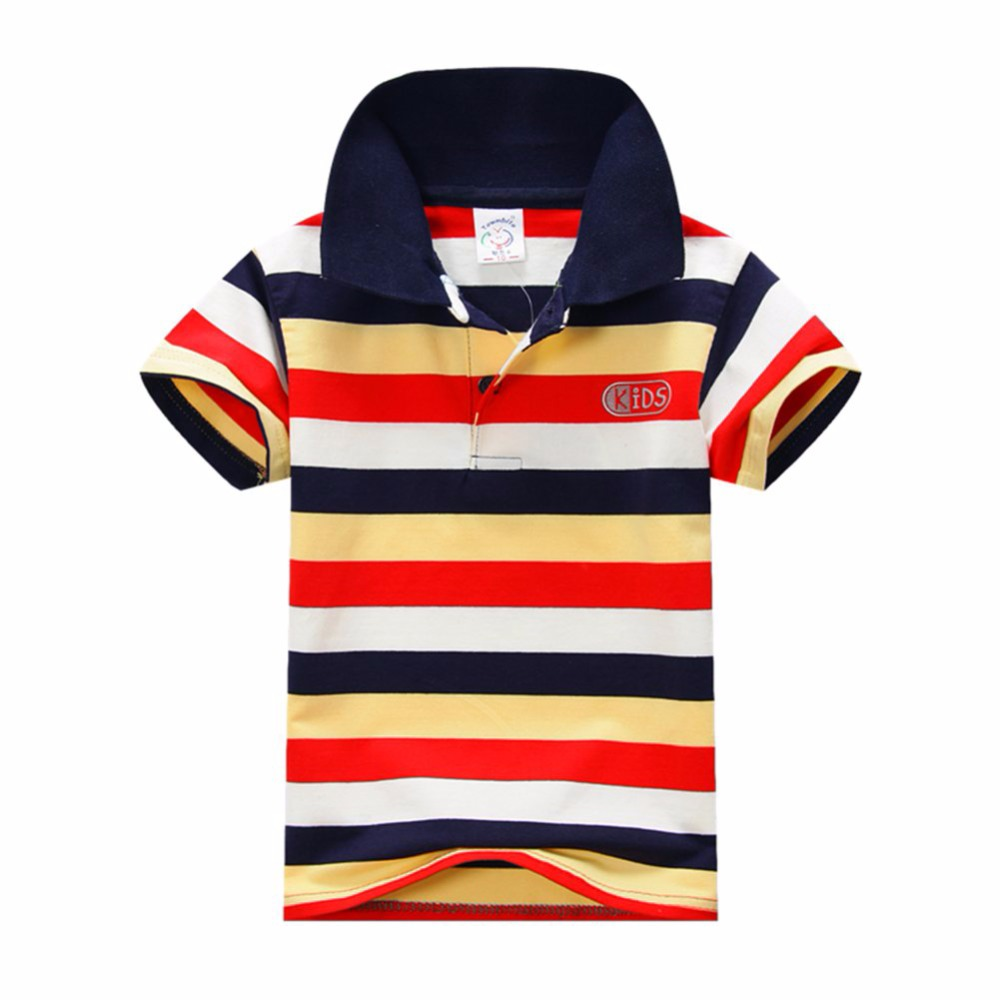 New-Summer-1-7Y-Baby-Children-Boys-Striped-T-shirts-Kids-Tops-Tee-Polo-Shirts-Clothing-5