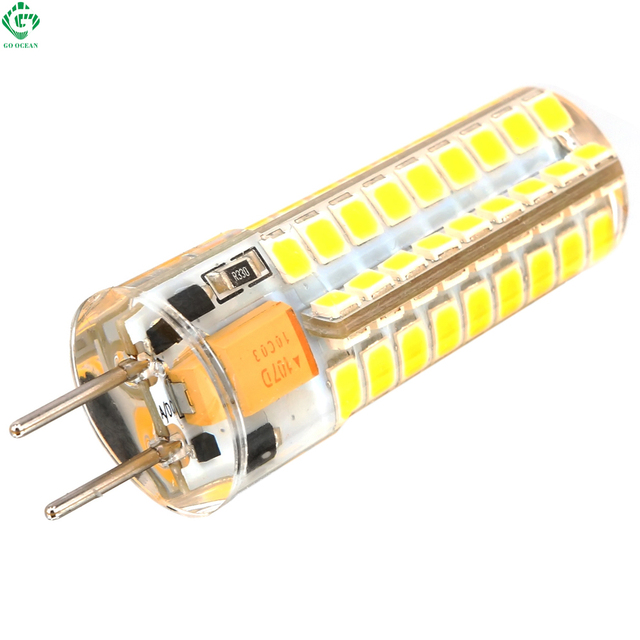 Modernistisk GY6.35 LED Bulb 12V AC/DC 4W 9W Silicone Boat Lamp 48 SMD 2835 SS66