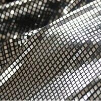 1 야드 DIY 수제 반짝 블랙 화이트 격자 무늬 장식 조각 직물 웨딩 이벤트 파티 식탁보 배경 장식