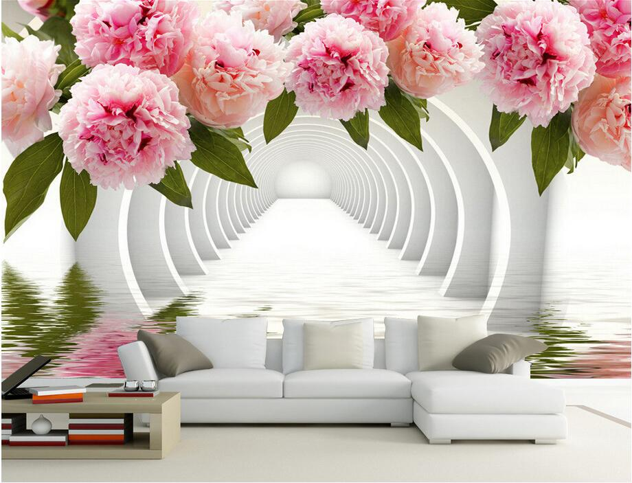 3d wallpaper custom photo non-woven mural Romantic flower corridor 3d wall murals wallpaper for walls 3 d living room painting free shipping european corridor wall painting background wallpaper hawaii non woven wallpaper mural