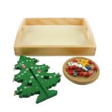 Деревянные детские игрушки Монтессори декор рождественская елка
