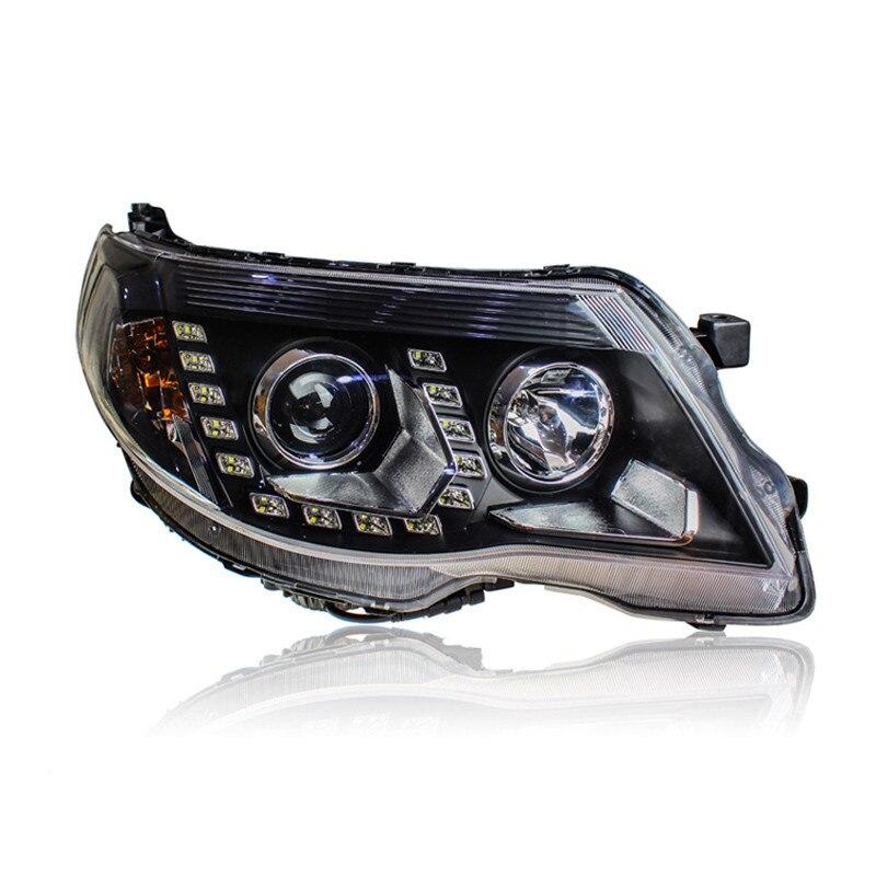 Ownсветодио дный Sun LED U Sharp Tear Eye DRLs HID Bi Xenon проектор Len оригинальный сменная фара для Subaru Forester 2008 2012