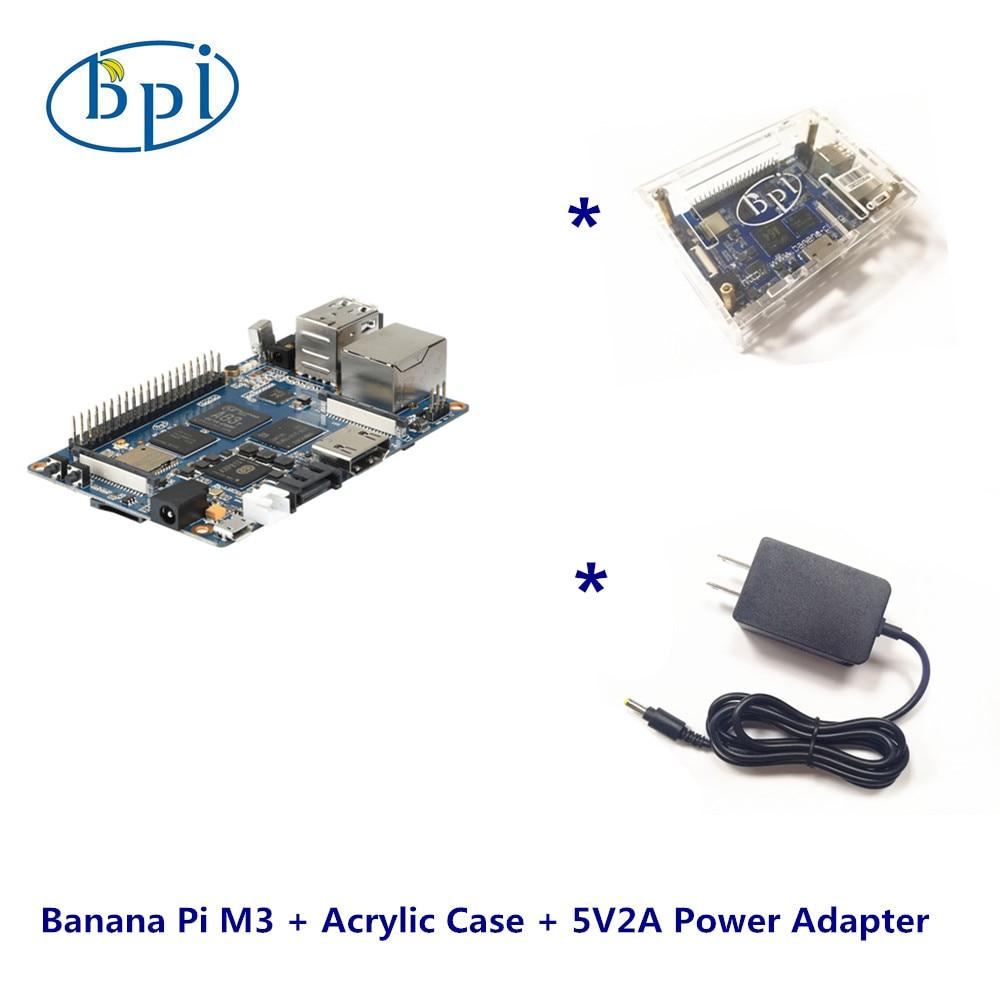Banana Pi M3 +Acrylic Case+ 5V2A DC Power Set