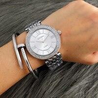 CONTENA для женщин женские часы лучший бренд класса люкс Серебряный браслет часы со стразами reloj mujer montre femme