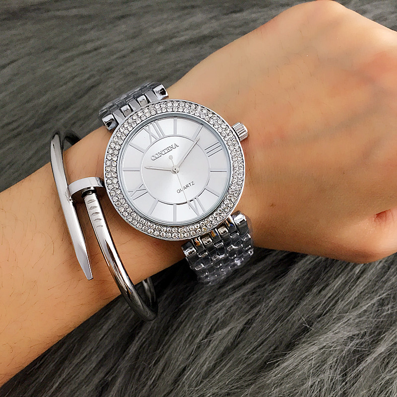 CONTENA Womens Watches Ladies Watch Top Brand Luxury Silver Bracelet Clock Rhinestone Watch Women Watches reloj mujerCONTENA Womens Watches Ladies Watch Top Brand Luxury Silver Bracelet Clock Rhinestone Watch Women Watches reloj mujer