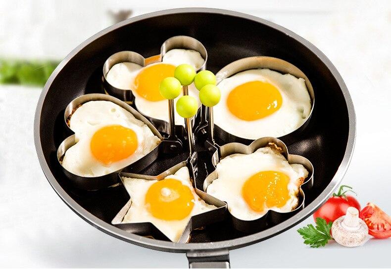 Omelette Schimmel Smile Face Egg Pancake Cooking Mold DIY Breakfast Kuchenform