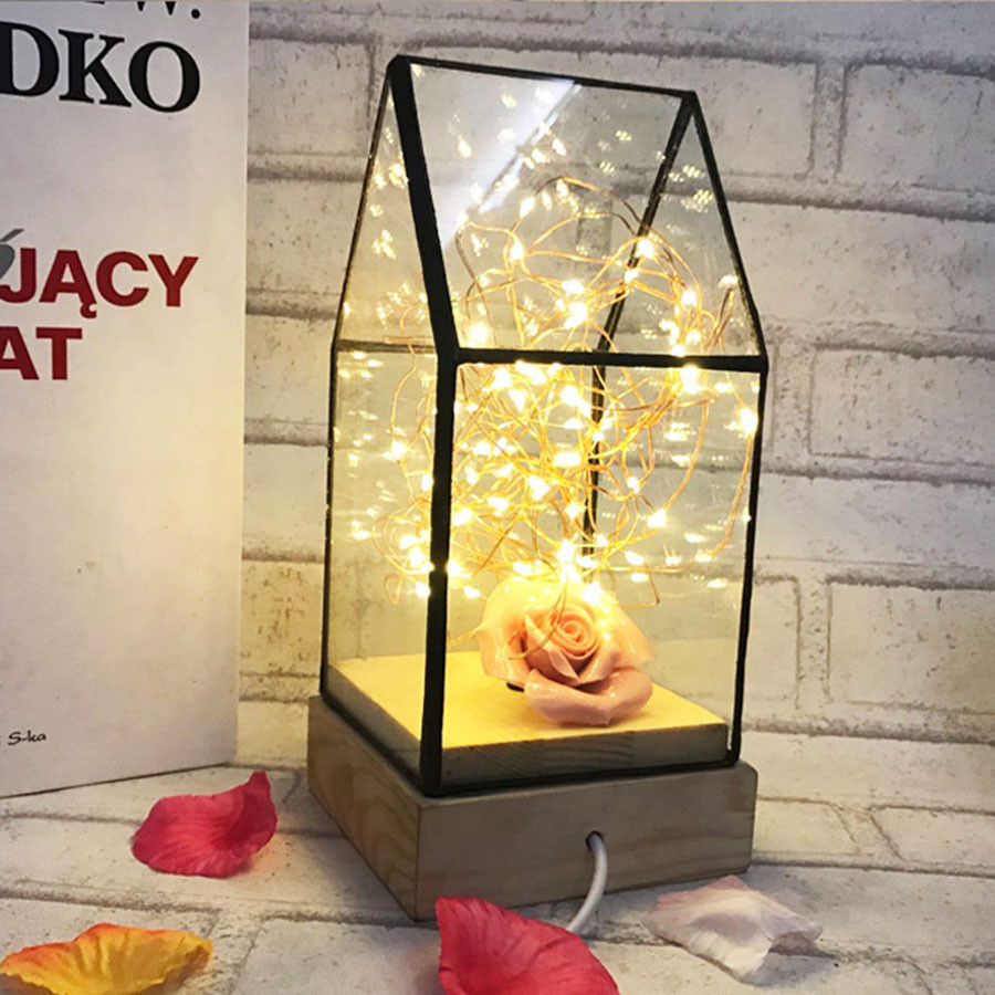 Dimmable Firework USB Novelty Led Night Light LED Copper Wire Desk Table Lamps Sleeping Bedside Lamp Child's Gift for Birthday стоимость