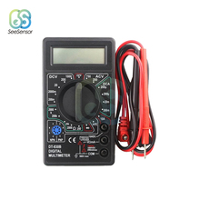 цена на DT830B LCD Digital Multimeter For Volt Amp Ohm Tester Meter Handheld Voltmeter Ammeter Overload Protection With Test Leads