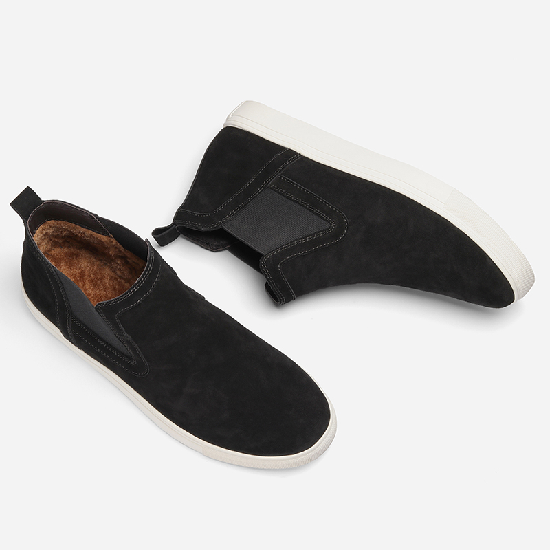 D'hiver ~ Hecrafted Cx0783jm En 36 Marque Cuir Chaussures Black Chaud Taille 2018 48 Bottines Vache YWE8qUwOgY