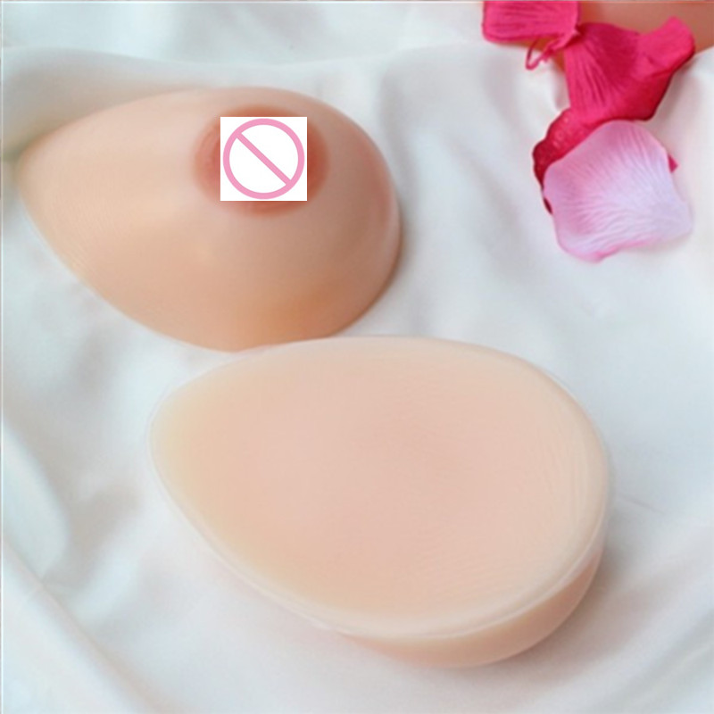 800g/Pair B Cup Fake Boobs Adhesive Silicone Breast Forms Bra Implants Natural Boobs for Shemale Crossdresser Sissy Underwear