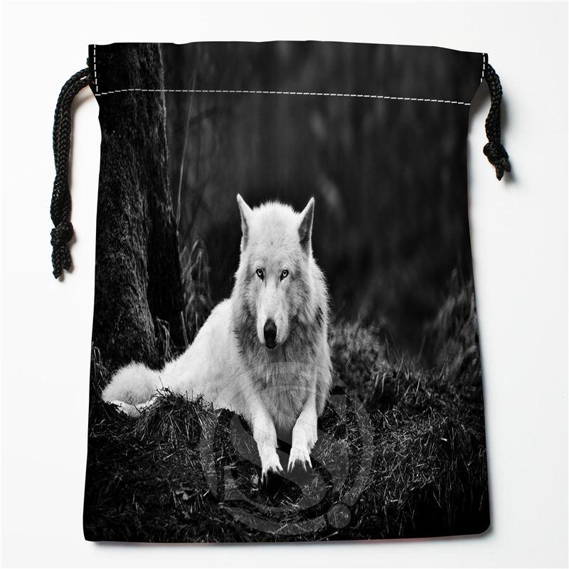 W 97 New wolf full moon Custom Logo Printed receive bag Bag Compression Type drawstring bags