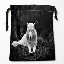 W-97 New wolf full moon Custom Logo Printed  receive bag  Bag Compression Type drawstring bags size 18X22cm E801wo97
