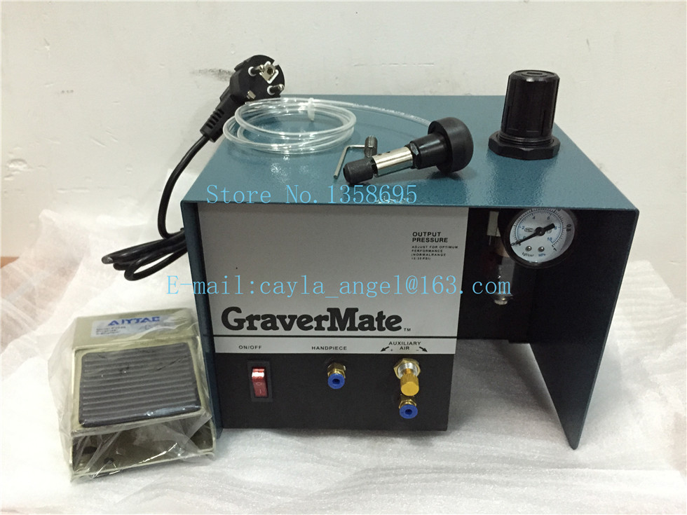 2015 NEW TO 110 V Graver Helper,Pneumatic Jewelry Engraving Machine Single Ended Graver Tool , Jewel Making Equipment