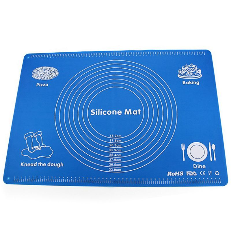 HOT-Silicone Baking Mat Non-Stick Pad Pizza Dough Machine Pastry Kitchen Gadget Cooking Tools Tableware Baking Mat Pad(China)