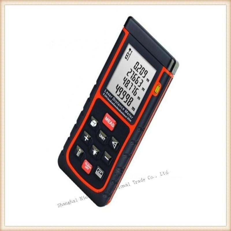 New 1pcs 50m Laser distance meter digital bubble level Rangefinder Range finder Tape measure Area/Volume in M/Ft/inch Tool  цены