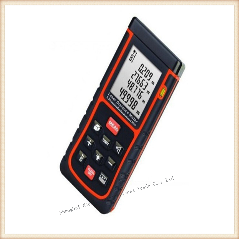 ФОТО New 1pcs 50m Laser distance meter digital bubble level Rangefinder Range finder Tape measure Area/Volume in M/Ft/inch Tool
