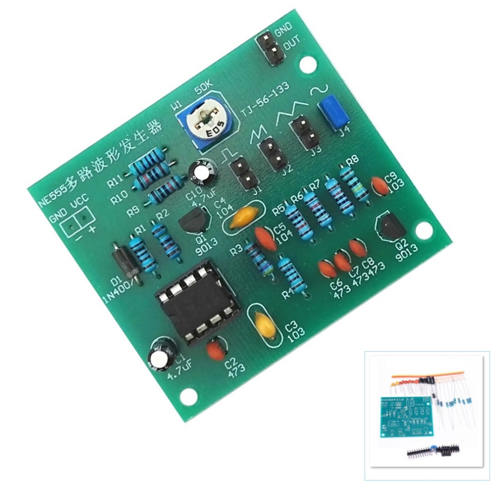 Sine Triangle Square Wave NE555 Multi-Channel Waveform Generator Module DIY Kits