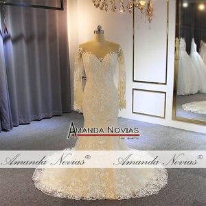 Image 2 - Nuovo modello sirena vestito con il treno staccabile abito da sposa