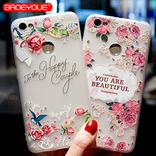 BROEYOUE Case For Xiaomi Redmi 4A 4X Note 4 5A Mi A1 5X Relief Silicone iPhone 5 5S SE 6 6S 7 8 Plus X Cases Cover